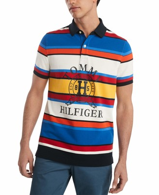 Tommy Hilfiger Men's Short Sleeve Boulder Polo Shirt in Custom Fit