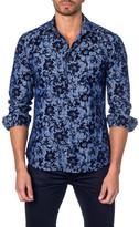 Jared Lang Large Floral Print Long Sleeve Shirt