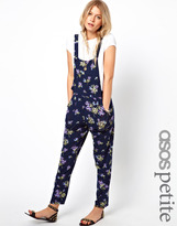 Asos Exclusive Overalls In Floral Print