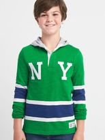 Gap Logo stripe slub hoodie