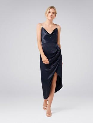 Ever New Juliette Trim Cowl Neck Midi Dress