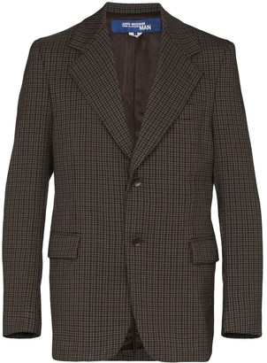 Junya Watanabe Checked Elbow Patch Blazer