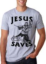 Crazy Dog T-shirts Crazy Dog Tshirts Jesus Saves Hockey Goal T Shirt Funny Religious Sport Tee