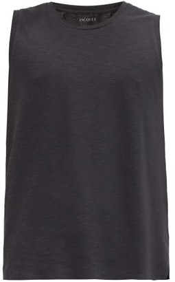 Jacques - Crew-neck Performance Tank Top - Black