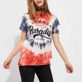 River Island Womens Petite red tie dye 'summer paradise' T-shirt