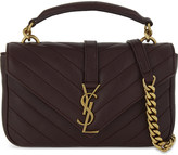 Saint Laurent Monogram Collège mini leather satchel