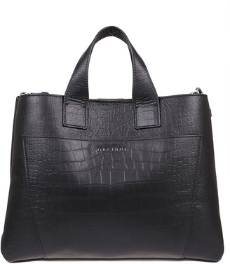Orciani Black Leather Bag
