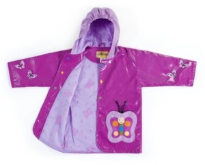 Kidorable Big Girl with Comfy Butterfly Raincoat