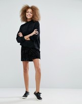Monki Velvet A-Line Mini Skirt