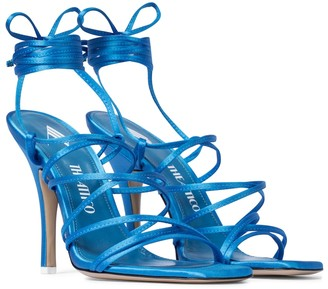 ATTICO Fiona satin sandals