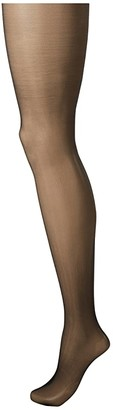 Commando Sexy Sheers with Lace Waistband H10T14 (Black) Sheer Hose