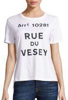 Jonathan Simkhai Rue Du Vesey Cotton Graphic Tee