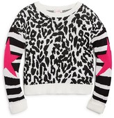 Design History Girls' Leopard Print Sweater - Big Kid