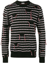 Christian Dior frayed stripe sweater - men - Virgin Wool - S