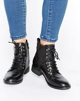 Aldo Germanie Flat Lace Up Leather Ankle Boots
