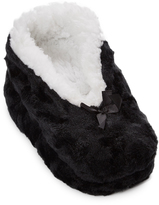 Charles Albert Black Bow-Accent Slipper - Women