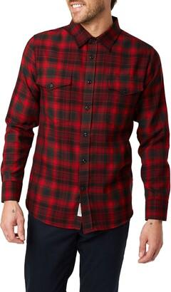 7 Diamonds Spruce Slim Fit Plaid Flannel Button-Up Shirt