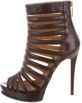 Herve Leger Mesh Platform Ankle Boots