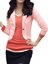 uxcell® Ladies Long Sleeves Button Closed Slim Fit Autumn Blazer