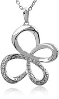 Jessica Simpson Diamond Butterfly Pendant in Sterling Silver