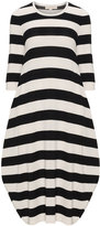 Isolde Roth Plus Size Knitted Striped Bubble Dress