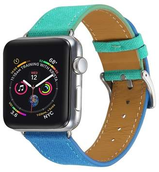 Turquoise/Blue Posh Tech Linen 42mm Apple Watch 1/2/3/4 Band