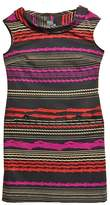 Gabby Skye Black Multi-Stripe Dress