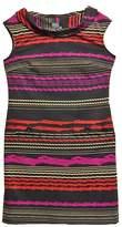 Gabby Skye Black Multi-Stripe Dress