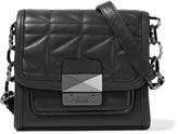 Karl Lagerfeld Kuilted Leather Shoulder Bag - Black