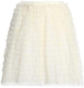 RED Valentino Ruffled Point D'esprit Mini Skirt