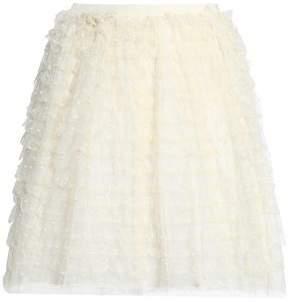 RED Valentino Tiered Point D'esprit Mini Skirt