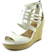 G by Guess Escinta Women Open Toe Synthetic Ivory Wedge Heel.