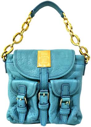 Bvlgari Blue Leather Chain Shoulder Bag