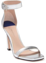 Stuart Weitzman Square Nudist Ankle Strap Sandal