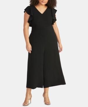 Rachel Roy Trendy Plus Size Cropped Wide-Leg Jumpsuit