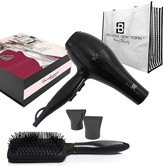 Brilliance New York Bombshell Blowout Duo: 3200PRO Dryer, Anti Frizz Styling Vent Brush & Tote 5-Piece Set - Black
