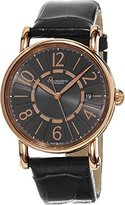 Chronoswiss Classic Grey Leather Strap Charcoal Dial Rose Gold Automatic Swiss Watch CH-2821LLRCLGR
