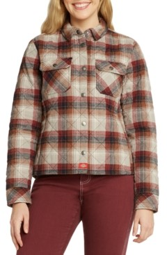 Dickies Plaid Quilted Shirt Jacket