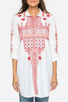 Johnny Was Embroidered Tunic Shirt