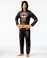 Briefly Stated Men's Batman Dark Knight Hooded One-Piece Pajamas