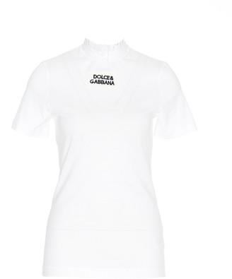 Dolce & Gabbana Lace Collar T-Shirt