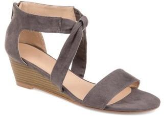Brinley Co. Womens Knot Sandal Wedge