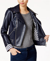 BCBGeneration Faux-Leather Moto Jacket