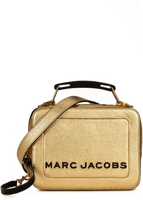 Marc Jacobs The Box 20 gold leather cross-body bag