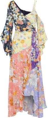 Peter Pilotto Floral-print Crepe De Chine Maxi Wrap Dress