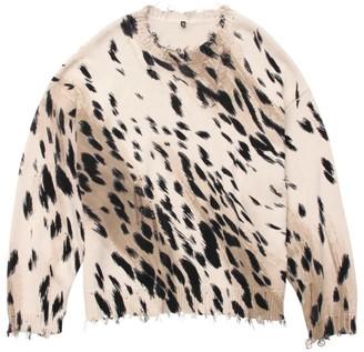 R 13 Cheetah Oversized Sweater