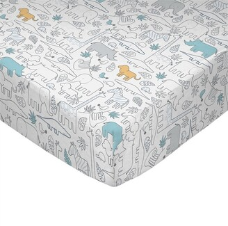 Living Textiles Lolli Living Crib Sheet Safari
