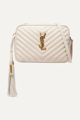 Saint Laurent Lou Medium Quilted Leather Shoulder Bag - White