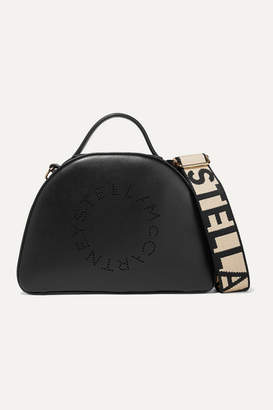 Stella McCartney Perforated Faux Leather Shoulder Bag - Black