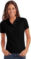 Hanes Elegance Womens Pique Short Sleeve Polo Shirt - 2XL